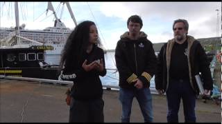 Sea Shepherd France's President Lamya Essemlali — Operation GrindStop 2014 Launch Press Conference