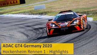 ADAC GT4 Germany   Ein Sieg In Orange   Rennen 1 - Die Highlights   Hockenheimring 2020