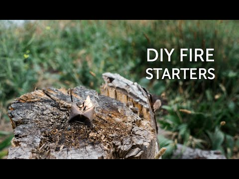Testing how long our DIY fire starters burn!