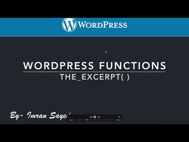 WordPress Functions the excerpt Control Theme post Content Read More