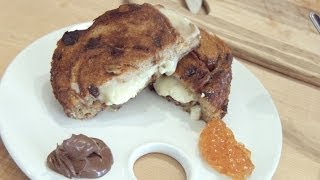Dessert Grilled Cheese Sandwich With Nutella & Orange Marmalade