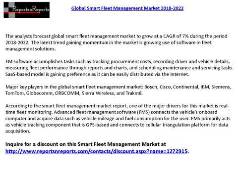 Global Smart Fleet Management Market 2022 Forecast Report