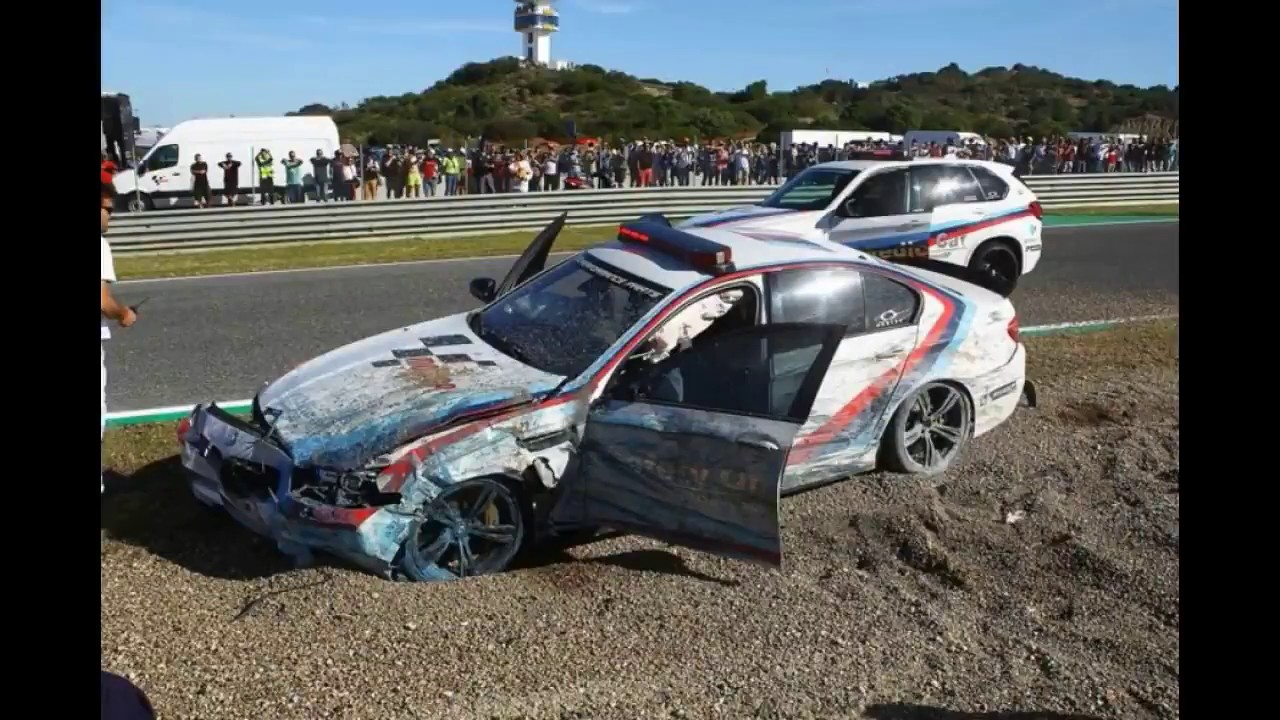 Safest car color accidents - Kondisi Safety Car Motogp Jerez 2017 Crash