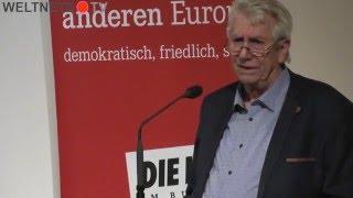 Wolfgang Gehrcke zur Diffamierung Yanis Varoufakis in den deutschen Medien - PEGIDA Vergleich