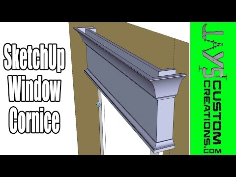 SketchUp - The Best Tool For Mouldings - Window Cornice - 176