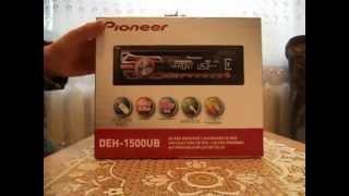 автомагнитола Pioneer DEH-1500UB обзор часть1