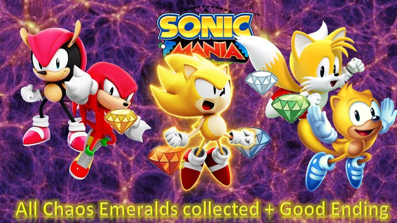 Sonic Mania Plus Pc Encore Dlc All Chaos Emeralds Collected Good