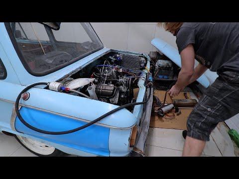 Инжекторный двигатель на Заз 968. Часть 9 (установка двигателя в Турбо Запорожец)