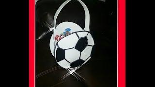 DIY Como Hacer Dulcero De Balon Futbol