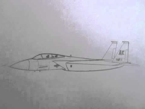 how to draw military vehicles f 15 strike eagle fighter jet