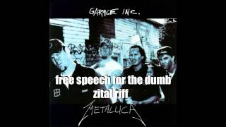 Metallica - Free speech for the dumb - riff loop