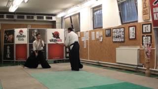 31 jo kata partner practise  jo -ken ( staff vs boken) [TUTORIAL] Aikido advanced weapon technique