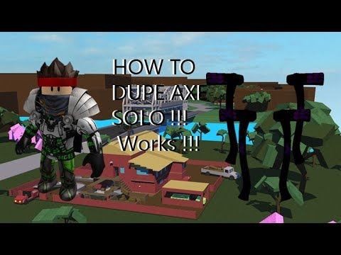 HOW TO DUPE AXE SOLO !!! Works 2017 - 2018   Lumber Tycoon 2 Indonesia