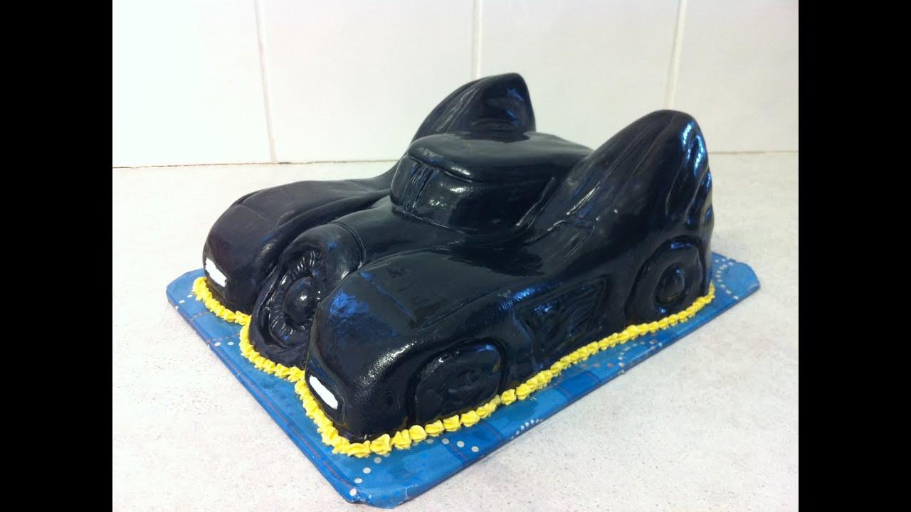 Batmans Batmobile Cake HowTo YouTube