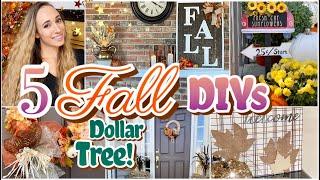 5 DIY Dollar Tree High End Fall Decor | Style My Sweets DIY