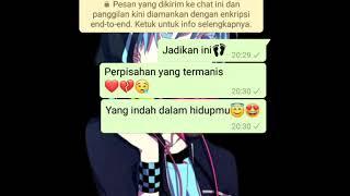 Gambar cover Status wa fake chat story 🔥 terbaru!!!
