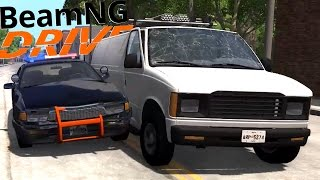 EASIEST POLICE CHASE EVER! - Canyon Jump & Chase Scenarios! - BeamNG Drive Gameplay