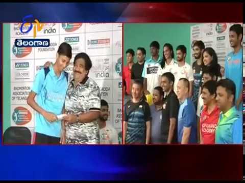Sai Praneeth , Srikanth & PV Sindhu | Felicitated at Gopichand Academy | Hyderabad