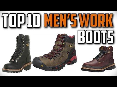 10 Best Men's Work Boots In 2019 - YouTube
