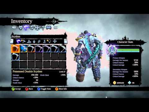 Darksiders II Ultimate Possessed Weapons creation guide