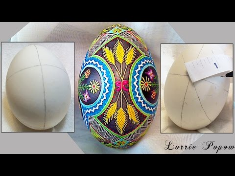DIY Egg Art Tutorial - How to Make Perfect Circles & Ovals on an Egg with a Measuring Tape Ruler thumbnail