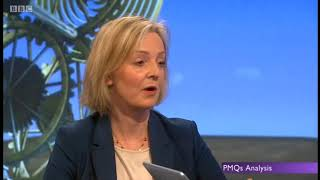 Hapless Liz Truss carcrash interview on Universal Credit helpine cost