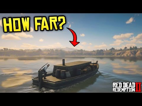 Red Dead Redemption 2 - HOW FAR CAN YOU GO? Trying to Make it to Mexico on Boat!