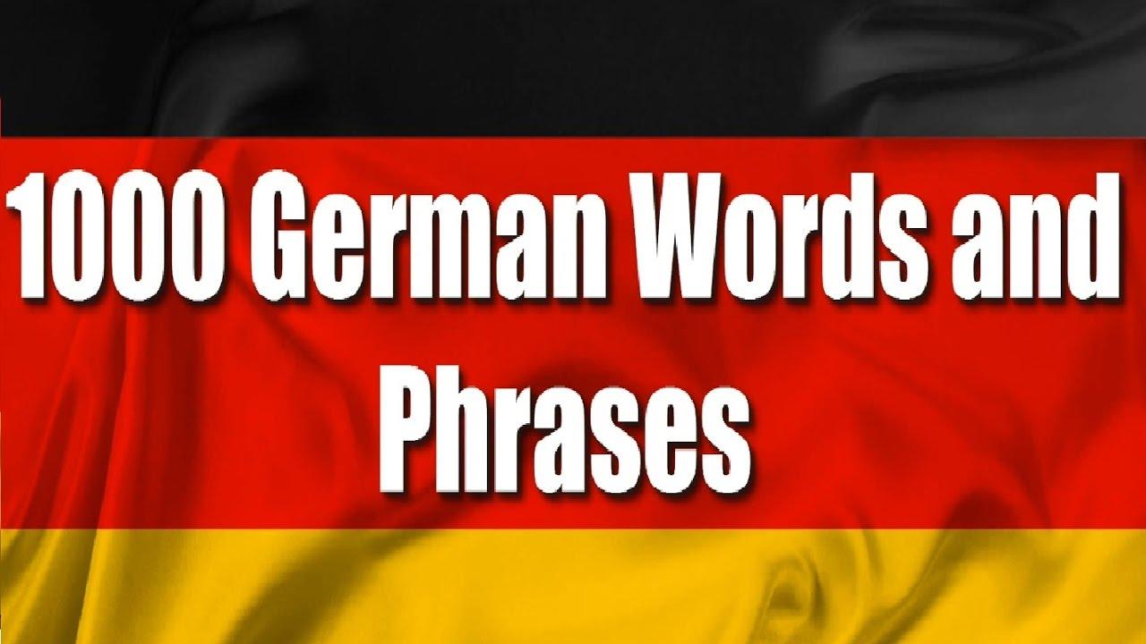 German courses 1000 german words part 1 youtube german courses 1000 german words part 1 kristyandbryce Images