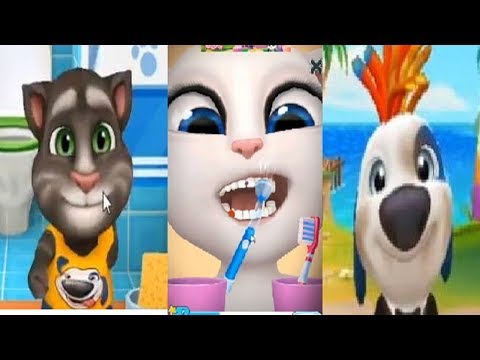 Минимульты Говорящий Том 2018 #5 TALKING HANK VS MY TALKING TOM VS TALKING ANGELA