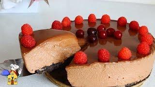 Торт БЕЗ ВЫПЕЧКИ без желатина! Шоколадный Торт