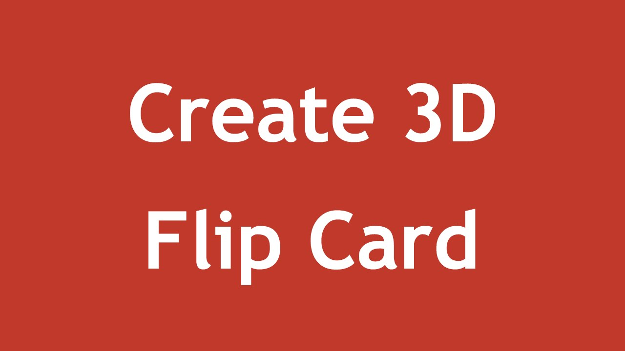 [ Css3 In Arabic ] #22 - 3D Transform - Create Flip Card