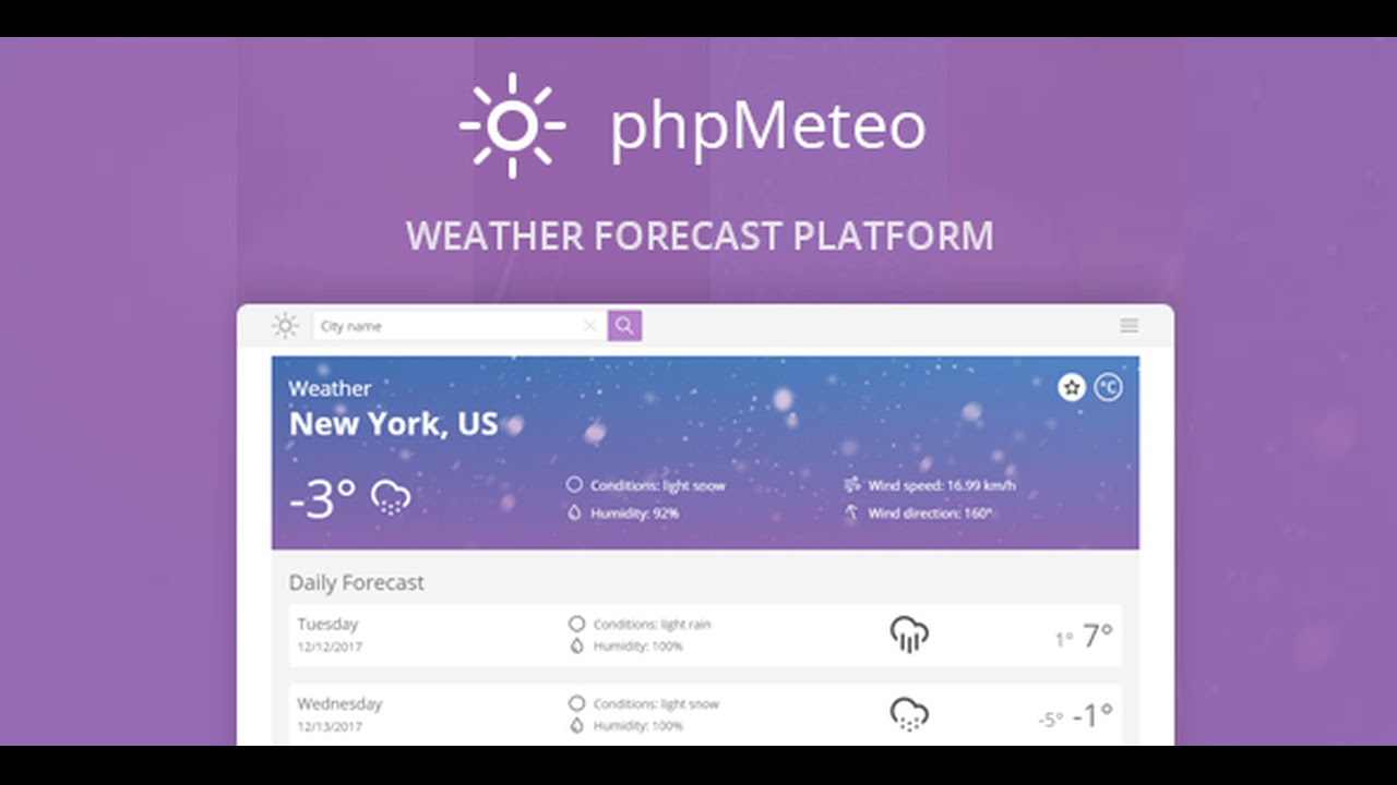 phpMeteo – Weather Forecast Platform Nulled