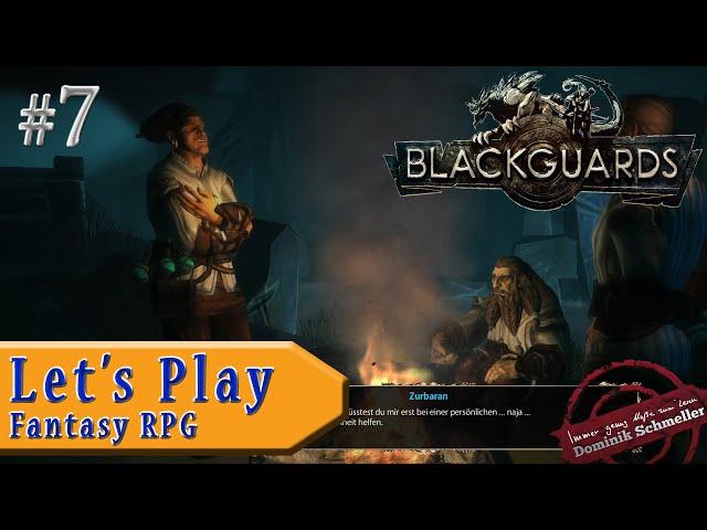 Let's Play Blackguards #7: Geselliger Abend am Lagerfeuer (Rollenspiel / Das Schwarze Auge / blind)