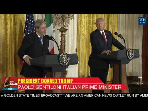 WATCH: President Donald Trump Press Conference and Q and A with Italian Prime Minister Gentiloni