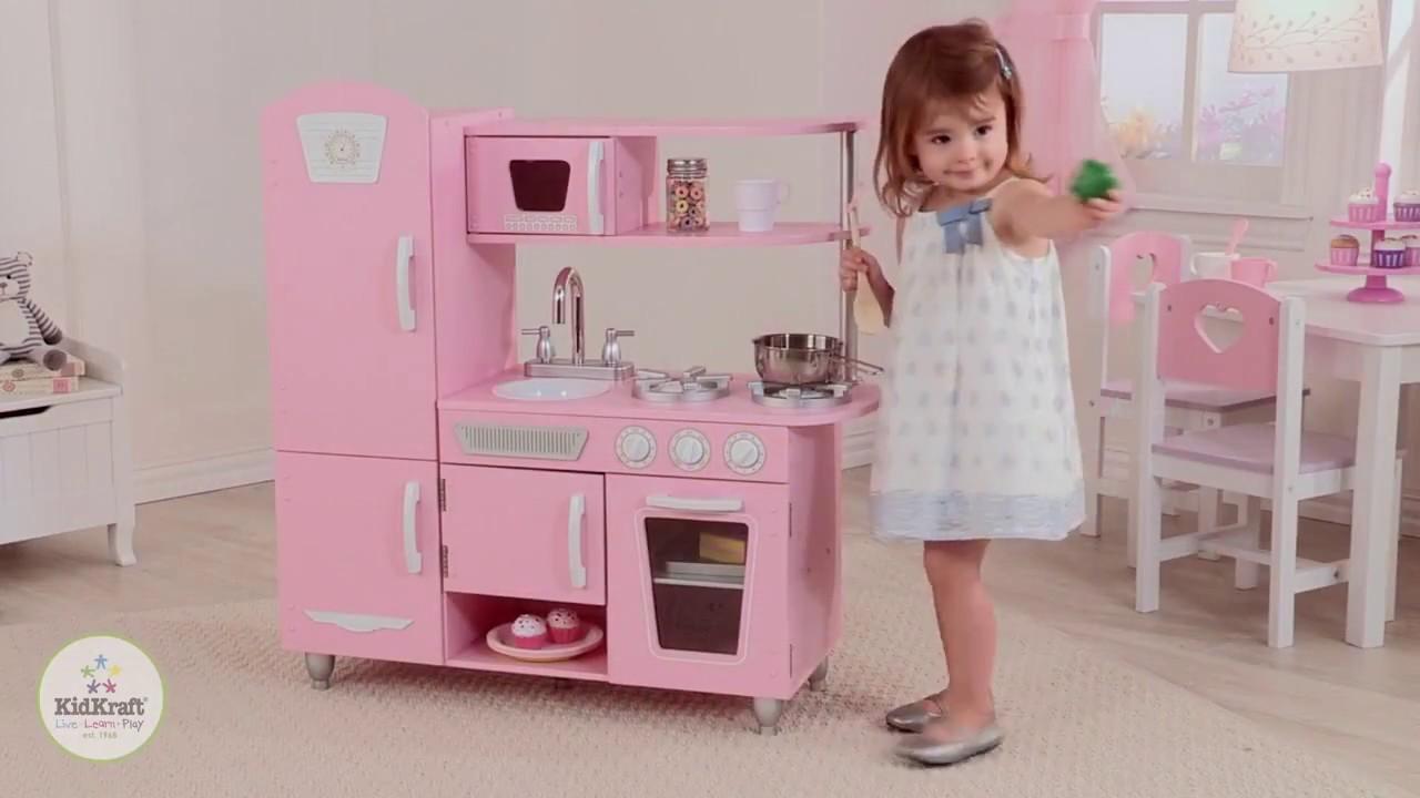 Kidkraft Barnkök Vintage Kitchen Pink 53347