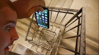 Bacam Pametni Telefon Niz Stepenice 100m - Hoće li Preživeti?