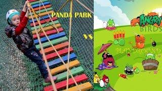 Парк развлечений Панда парк Детская площадка Angry Birds. Outdoor Playground for kids