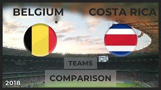 BELGIUM - COSTA RICA ⚽ Football Teams Head-To-Head Comparison ⚽ 11/06/2018 (SOCCER)