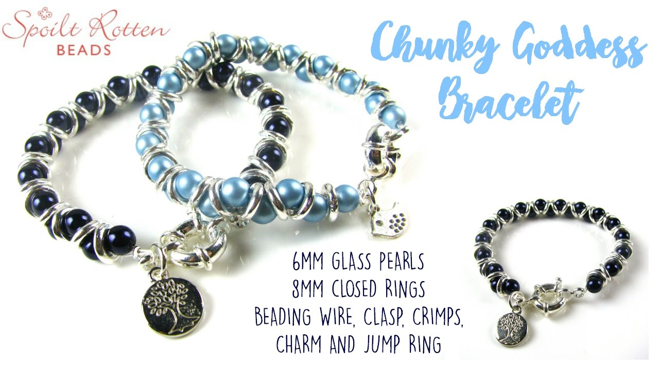 Chunky Goddess Bracelet Tutorial - YouTube
