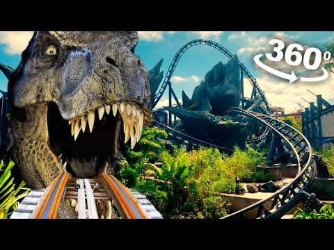 Best VR 360 Jurassic Dinosaur Roller Coaster (T-Rex Chase)