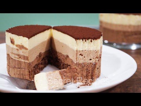 МУСС ТРИ ШОКОЛАДА - нежный и восхитительный десерт | TRIPLE CHOCOLATE MOUSSE CAKE Recipe