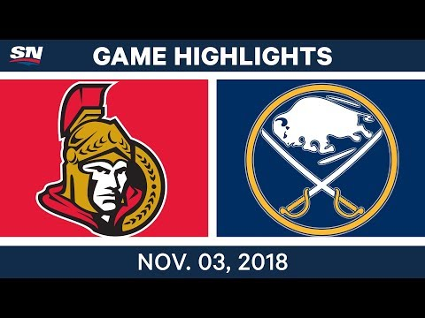 NHL Highlights | Senators vs. Sabres – Nov. 3, 2018