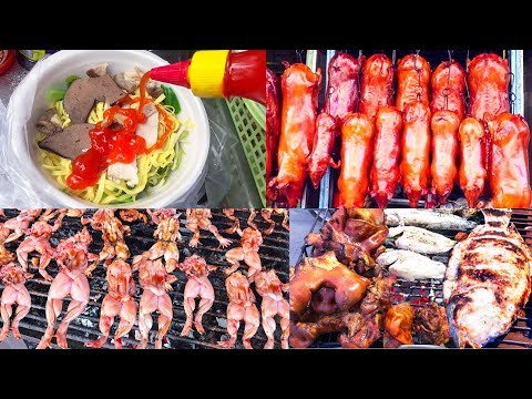 Asian Street Food, Fast Food Street in Asia, Cambodian Street food #272