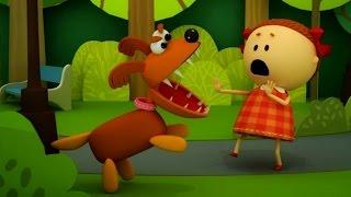 Аркадий Паровозов спешит на помощь - Почему нельзя гладить незнакомых собачек - мультфильм детям.