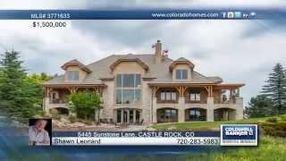 5445 Sunstone Lane  CASTLE ROCK, CO Homes for Sale | coloradohomes.com