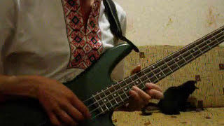 "Bass solo: Metallica ""Welcome Home (Sanitarium)"" 2nd solo (distortion 