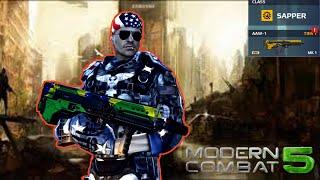 Modern Combat 5 AAW-1 Review - U.S. Patriot Armor Gameplay New Upda...