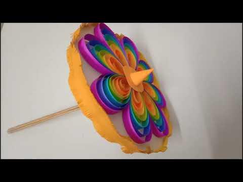 Ganesh Chathurthi Umbrella - DIY with paper - how to make vinayagar umbrella
