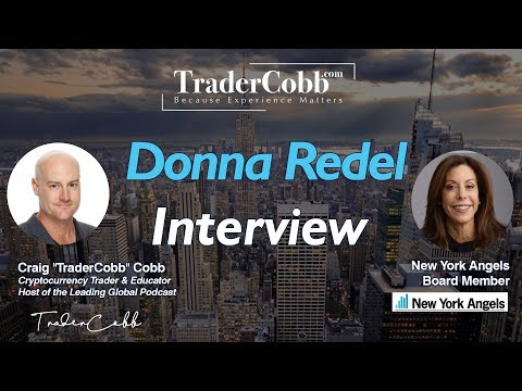 TraderCobb Interviews Donna Redel NY Angel & Woman in BlockChain @ Consensus Blockchain Week - NY