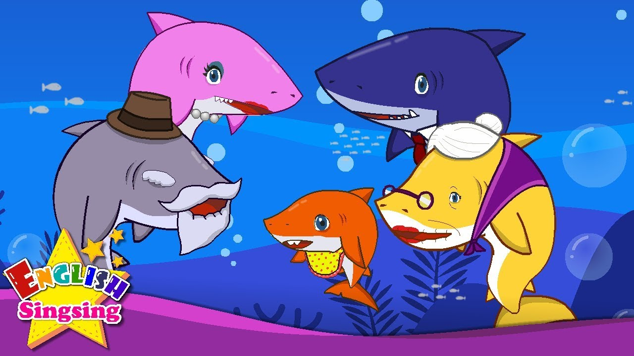 baby shark english cartoon nursery rhyme video kids song lyrics english song